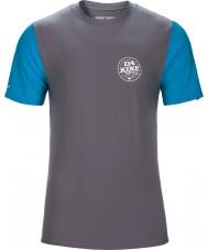 Dakine 10001023-GUNMETAL-L Levantado ajuste flojo camiseta