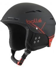 Bolle 31211 B-diversión casco de esquí negro y rojo suave - 54-58cm