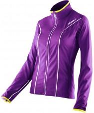 2XU WR2161A-PLQ-EYW-XS Damas elite de laca de color púrpura y sobresalir de la chaqueta amarilla de ejecución - el tamaño de xs