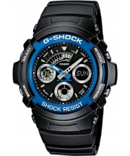 Casio AW-591-2AER reloj cronógrafo de los deportes para hombre negro g-shock