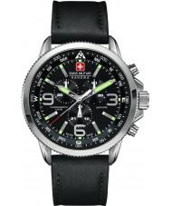Swiss Military 6-4224-04-007 Mens flecha reloj cronógrafo negro