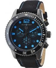 Elliot Brown 929-006-C02 Para hombre reloj cronógrafo bloxworth correa de tela negro
