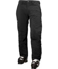 Helly Hansen Pantalones de esquí negro con aislamiento de velocidad para hombre