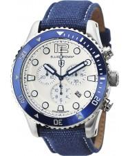 Elliot Brown 929-008-C01 Para hombre reloj cronógrafo bloxworth correa de tela azul
