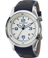 Elliot Brown 202-001-L06 Mens CANFORD reloj de la correa de cuero azul