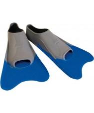 Zoggs 300395 Ultra azules y grises aletas de formación - el tamaño de uk 12