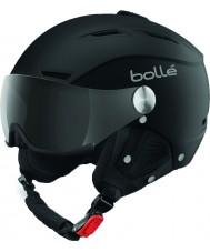Bolle 31253 suave casco de esquí negro y plata backline visera con visera de color gris - 59-61cm
