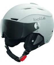 Bolle 31255 casco blanco y plata suave backline visera de esquí con visera de color gris - 56-58cm