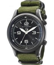 Elliot Brown 202-004-N01 Mens CANFORD reloj correa de tela verde