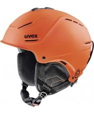 Uvex 5661538003 P1us casco de esquí estera de color naranja oscuro - 52-55cm