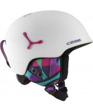 Cebe CBH188 mate lujo casco de esquí gráficos en blanco suspenso - 54-56cm
