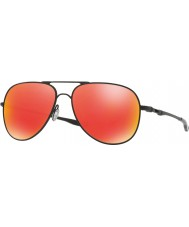 Oakley Oo4119-04 elmont M y L de satén negro - gafas de sol de rubíes de iridio