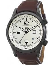 Elliot Brown 202-009-L05 Mens CANFORD reloj marrón correa de cuero