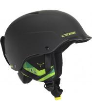 Cebe CBH99 casco de esquí negro y verde concurso de visera mate - 55-58cm