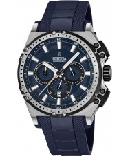 Festina F16970-2 Para hombre en bicicleta crono de caucho azul reloj cronógrafo
