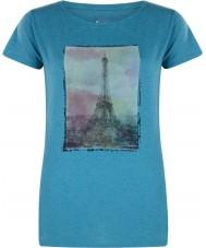 Dare2b DWT320-7BU10L Señoras de la torre por encima esmalte azul margas camiseta - el tamaño de uk 10 (s)