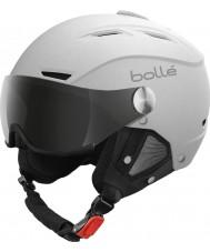 Bolle 21267 casco de esquí blanco y plateado suave backline visera - 54-56cm