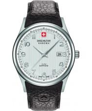 Swiss Military 6-4286-04-001 Mens navalus reloj de la correa de cuero marrón