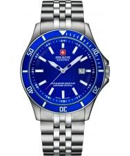 Swiss Military 6-5161-2-04-003 reloj de pulsera de acero de plata para hombre insignia