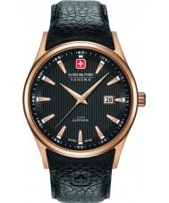 Swiss Military 6-4286-09-007 Mens navalus reloj de la correa de cuero negro