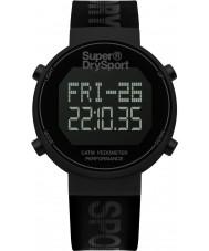 Superdry SYG203BB Mens digi podómetro reloj correa de silicona negro