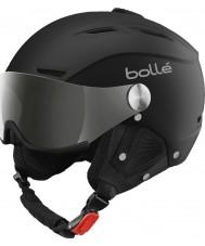 Bolle 31156 suave casco de esquí negro y plata backline visera con el arma de la plata y el visor de limón - 59-61cm