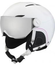 Bolle 31159 Julieta visera del casco de esquí blanca y suave con el arma de la plata y el visor de limón - 52-54cm