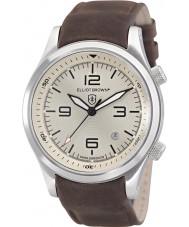 Elliot Brown 202-003-L08 reloj de la correa de cuero marrón para hombre del chocolate Canford