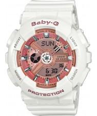 Casio BA-110-7A1ER Señoras baby-g tiempo del mundo reloj de correa de resina blanca